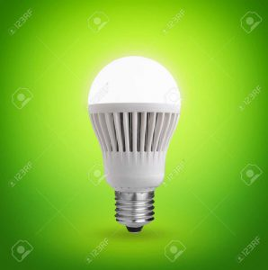 25321455-Glowing-LED-bulb-on-green-background--Stock-Photo-light